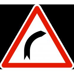 Panneau de danger virage à droite A1A