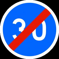 Panneau d'obligation fin de vitesse minimale obligatoire B43