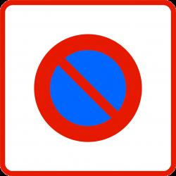 Panneau stationnement entrée d'une zone à stationnement interdit B6b1