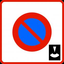 Panneau stationnement zone à stationnement de durée limitée contrôlée par disque B6B3