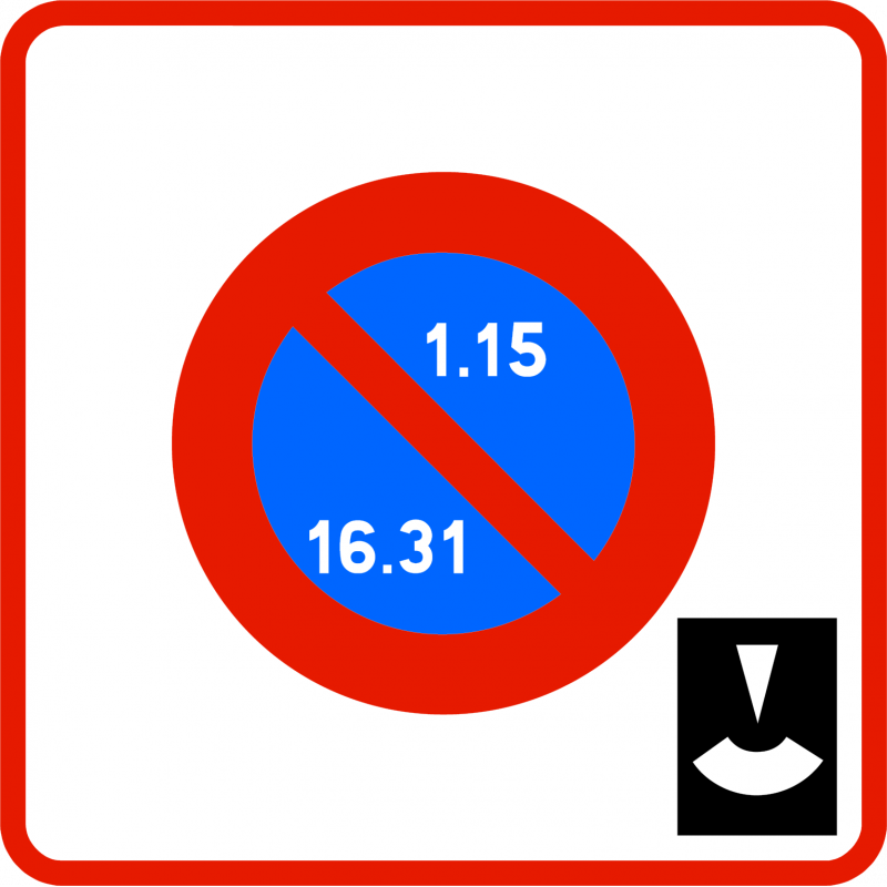 Panneau stationnement entrée zone stationnement alternance et durée limitée avec disque B6B5