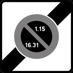 Panneau stationnement une sortie de zone à stationnement unilatéral à alternance semi-mensuelle B50B