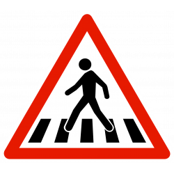 Panneau de danger passage pour piétons A13B