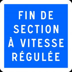 Panneau indication fin de section à vitesse régulée C51B