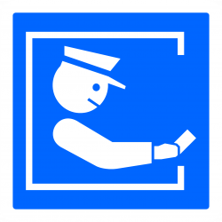 Panneau indication paiement auprès d'un péagiste C64a