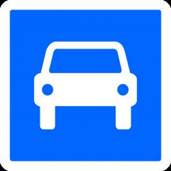 Panneau indication route à accès réglementé à la circulation automobile C107