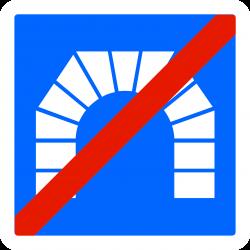 Panneau indication sortie de tunnel C112