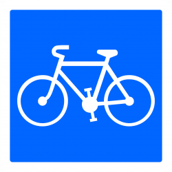 Panneau indication piste/bande cyclable réservée aux cycles à deux ou trois roues C113