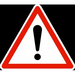 Panneau de danger autres dangers A14