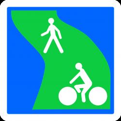 Panneau indication circulation des piétons et véhicules non motorisés C115