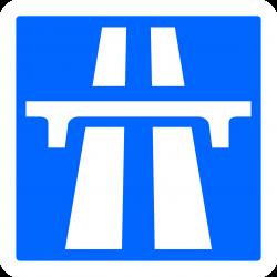 Panneau indication début d'autoroute C207