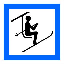 Panneau services point de départ d'une télésiège ou d'unee télécabine CE20B