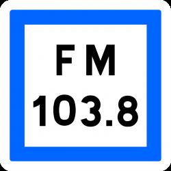 Panneau services fréquence d'émission d'une station de radiodiffusion CE22