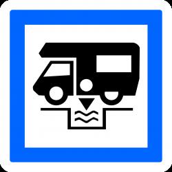 Panneau services station de vidange pour caravanes, autocaravanes et cars CE24