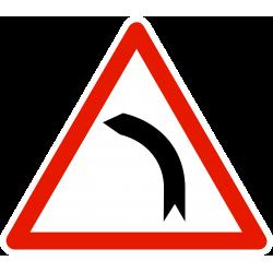 Panneau de danger Virage à gauche A1B