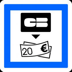 Panneau services distributeur de billets de banque CE25
