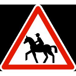 Panneau de danger passage de cavaliers A15C