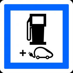 Panneau services poste de distribution de carburant CE15g