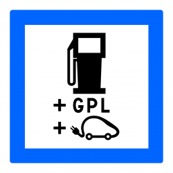 Panneau services poste de distribution de carburant gaz de pétrole liquéfié (GPL) CE15h