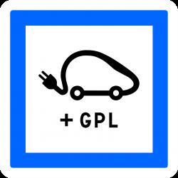 Panneau services poste de recharge de véhicules électriques CE15j