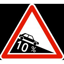 Panneau de danger descente dangereuse A16