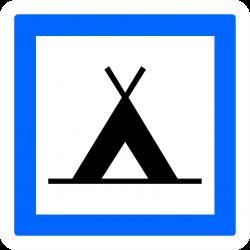 Panneau services terrain de camping pour tentes CE4a