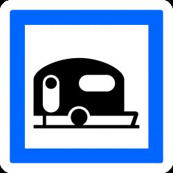 Panneau services terrain de camping pour caravanes et autocaravanes CE4b