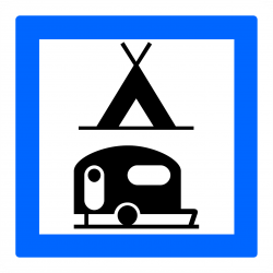 Panneau services terrain de camping pour tentes, caravanes et autocaravanes CE4c