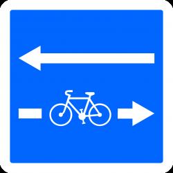Panneau indication traversée de cyclistes C24c-2