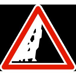 Panneau de danger risque de chute de pierres A19