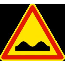 Panneau de danger cassis ou dos d'âne AK2