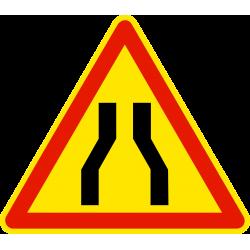 Panneau de danger chaussée rétrécie AK3