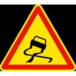 Panneau de danger chaussée glissante AK4