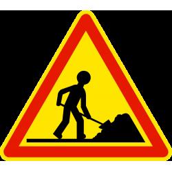 Panneau de danger travaux AK5