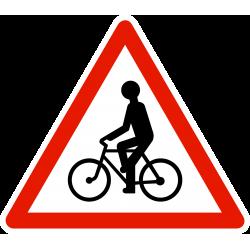 Panneau de danger débouché de cyclistes A21