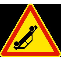 Panneau de danger annonce d'un accident AK31