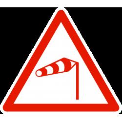 Panneau de danger vent latéral A24