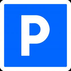 Panneau indication temporaire lieu aménagé pour le stationnement CK1
