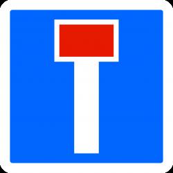 Panneau indication temporaire impasse CK13