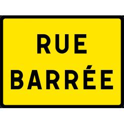 Panneau indication temporaire rue barrée KC119P