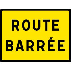 Panneau indication temporaire route barrée KC121P