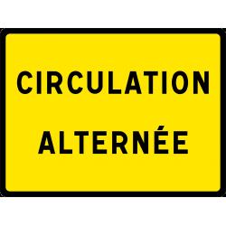 Panneau indication temporaire circulationalternée KC1CA
