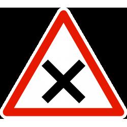 Panneau intersection de voie AB1
