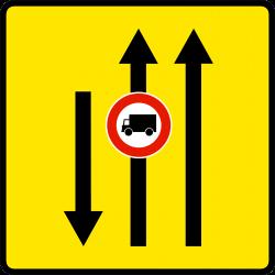Paneau voierie temporaire affectation de voies KD9-2