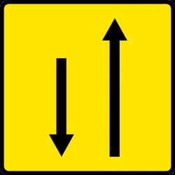 Paneau voierie temporaire affectation de voies KD9-4