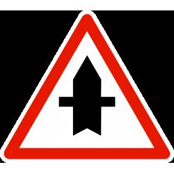 Panneau intersection de voie AB2