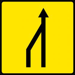 Paneau voierie temporaire réduction du nombre des voies KD10a-1