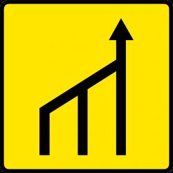 Paneau voierie temporaire réduction du nombre des voies KD10b-1