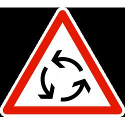 Panneau carrefour à sens giratoire AB25