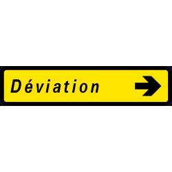 Paneau voierie temporaire présignalisation courante KD43a-1